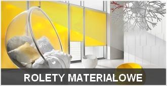 Rolety materiałowe